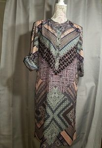 Antonio Melani shirt dress multiprint/color sz 4
